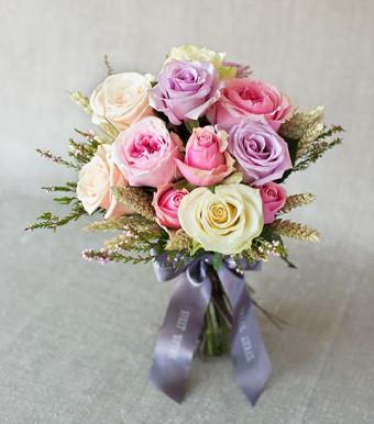 """Моно-букет из роз """"Прованс"""""""