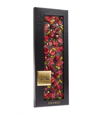 ChocoMe Горький шоколад с золотом и лепестками розы