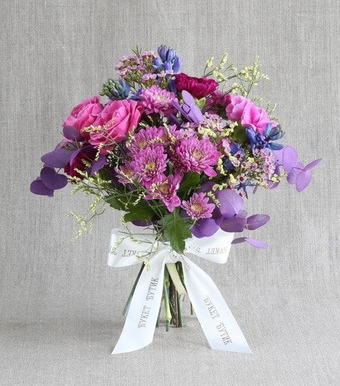 Цветов белые букет из хризантем разных цветов крымская роза цветы